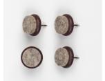 Thonet Kunststoffgleiter für Bugholzstühle braun mit Filz
