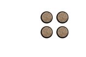 Thonet Kunststoffgleiter für Holzstühle schwarz mit Filz (Quick Klick)